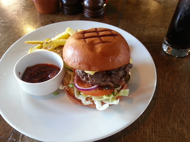 Fat Cow burger from The Old Red Cow