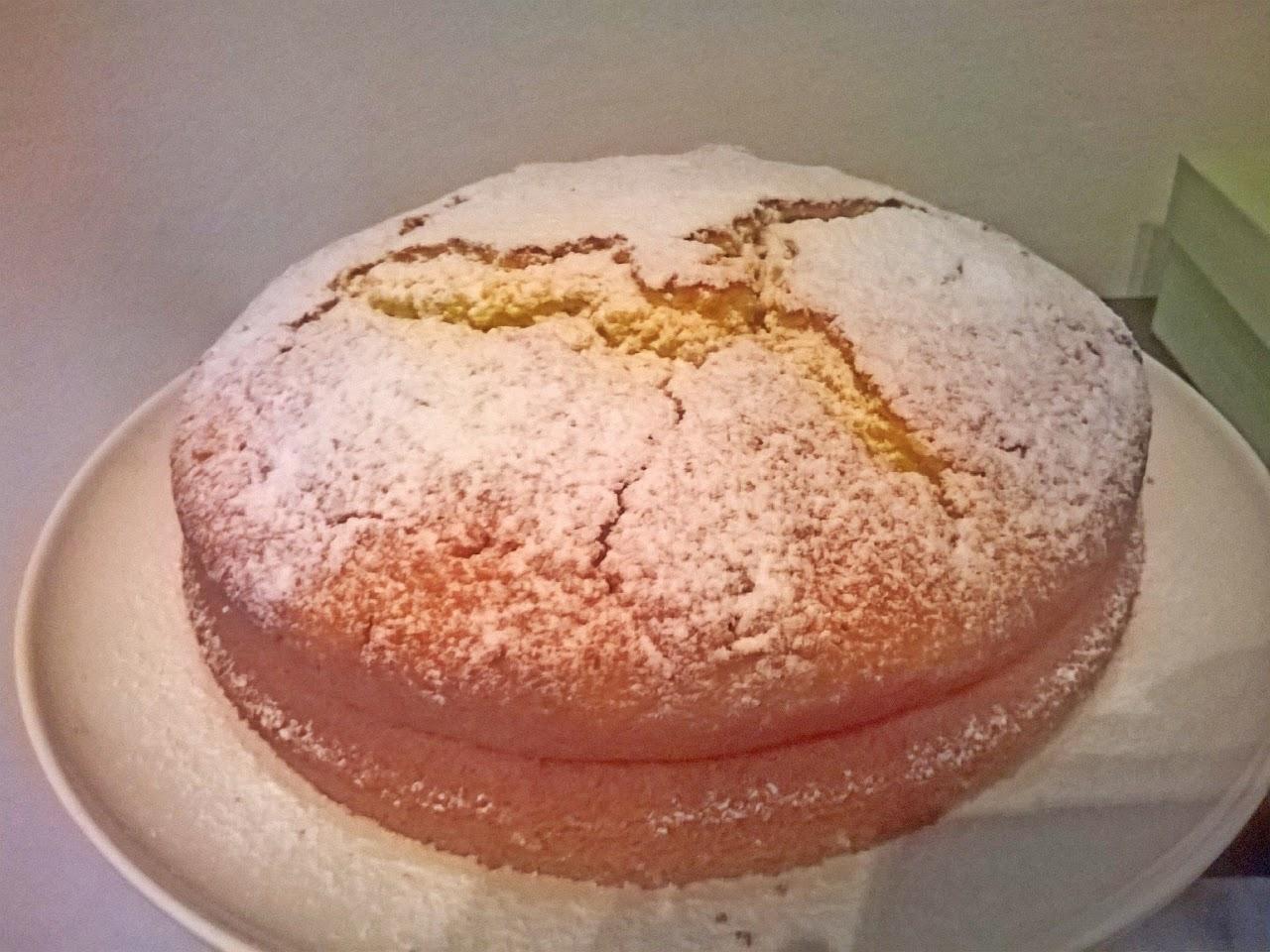 torta proteica limone e vaniglia
