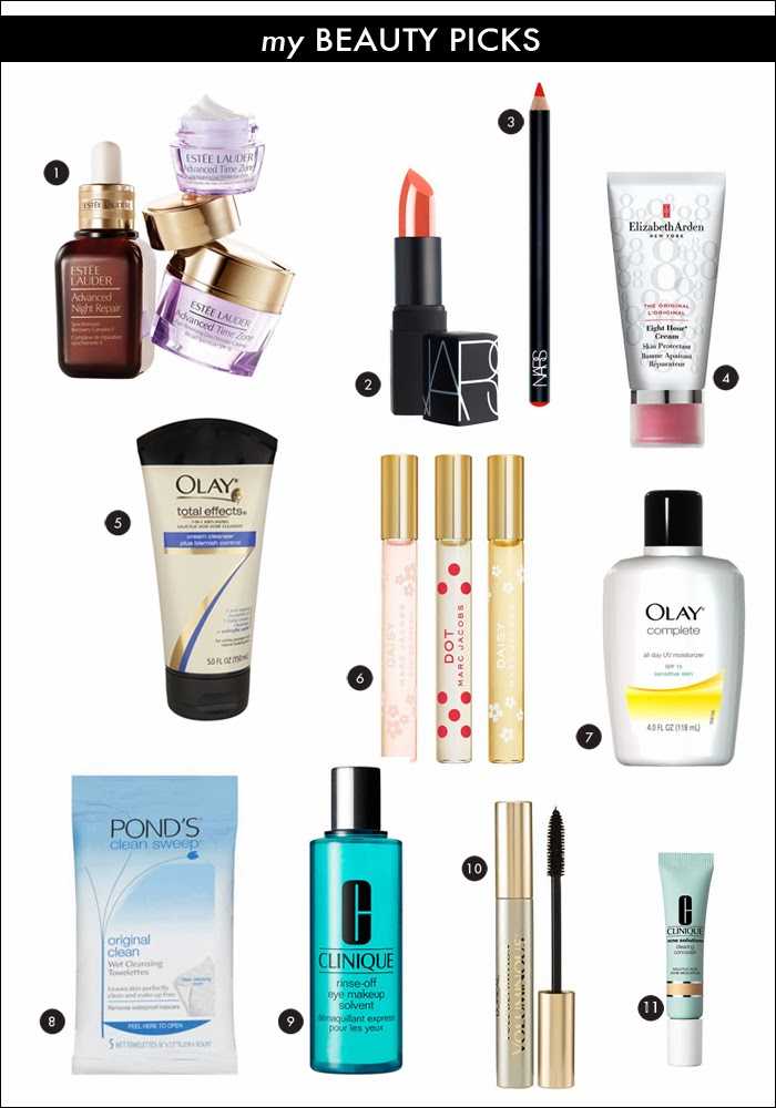 oil of olay, estee lauder, elizabeth arden, nars, marc jacobs, ponds, clinique, l'oreal, mascara, lotion, lipstick, blemish control, best beauty products