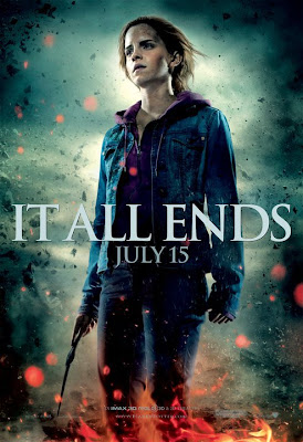 "Harry Potter and the Deathly Hallows Part 2 ""It All Ends"" Character Movie Poster Set - Emma Watson as Hermione Granger"