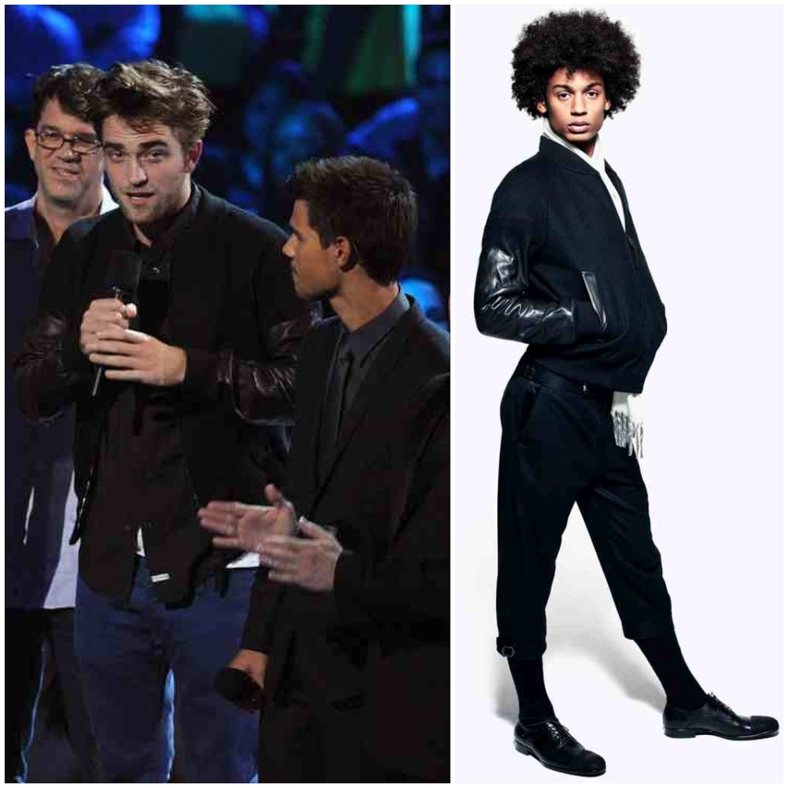 00O00 London Menswear Blog Robert Pattinson 2012 MTV Video Music Awards Alexander McQueen black bomber jacket