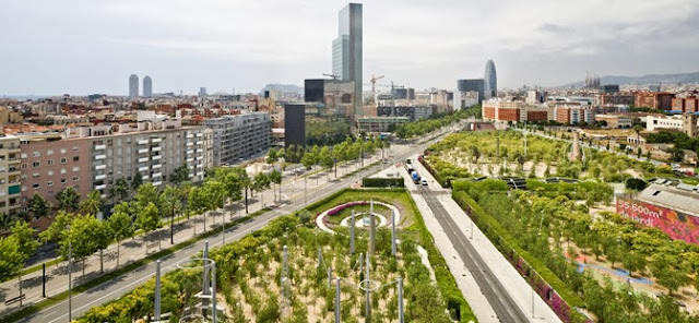 El barrio Poblenou en Barcelona