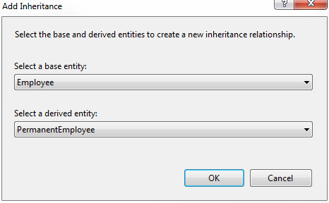 adding inheritance relation between entities