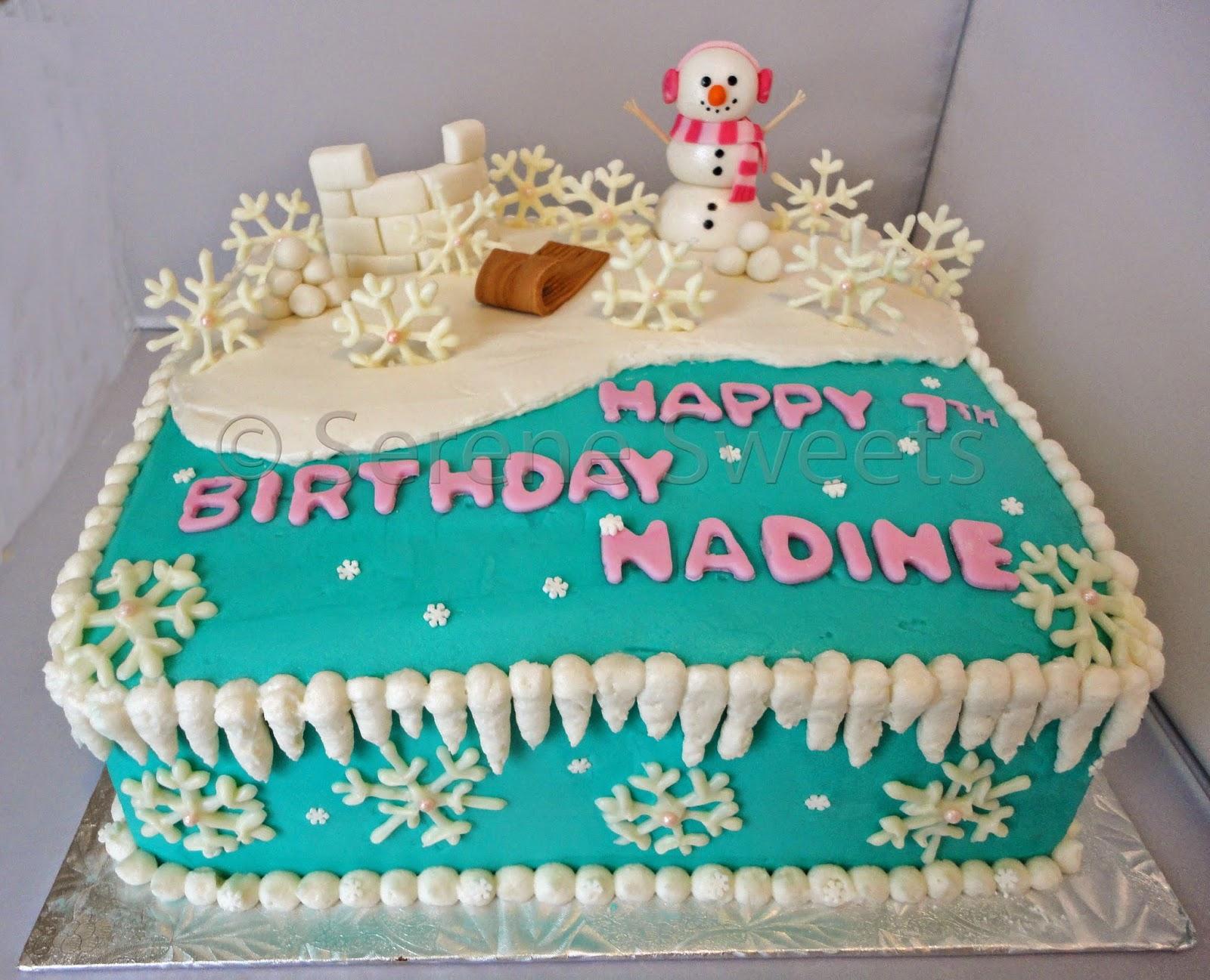 Serene Sweets Winter Themed Cake
