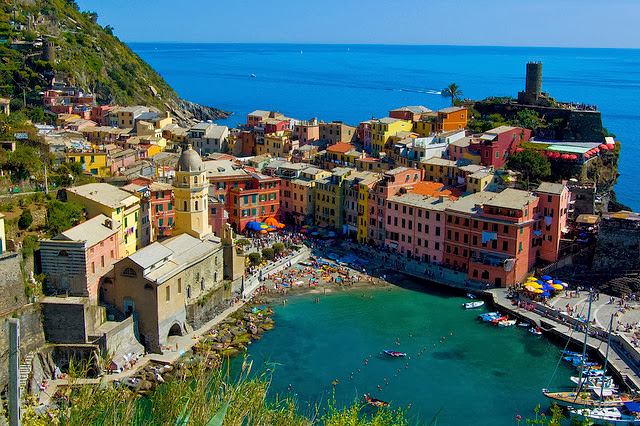 Cinque, terre, italy, colorful, color, ocean