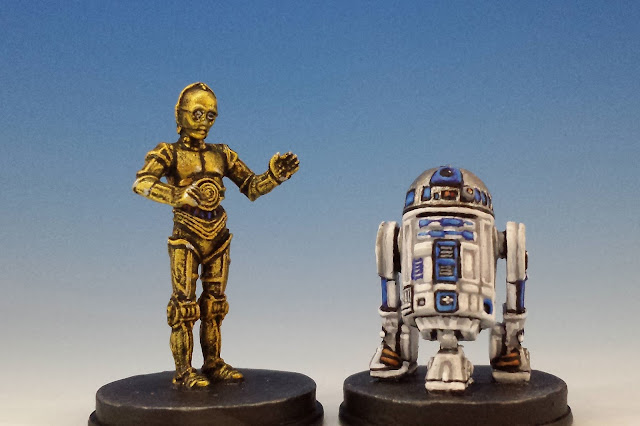 C-3PO and R2-D2, Imperial Assault FFG (2015, sculpted by Benjamin Maillet)