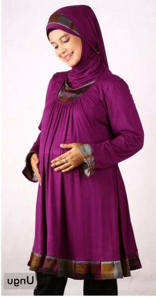 Model Baju Hamil Muslim Cantik Untuk Kerja Murah Terbaru 2015