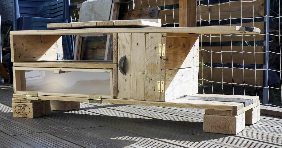 Récup & design Meuble télé en bois de palettes d