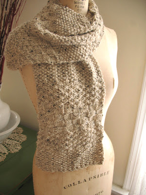 knitting, my projects, seed stitch cambridge scarf