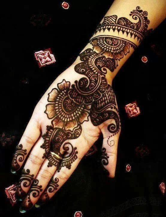 Beautiful Latest Simple Arabic Pakistani Indian Bridal Girl Mehndi Designs June 2014