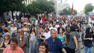 Ley Mordaza: miles de personas se manifiestan contra su entrada en vigor