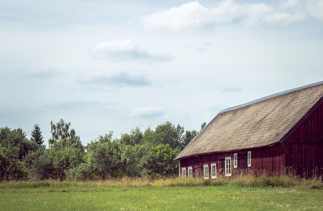 Alte Scheune in Südschweden
