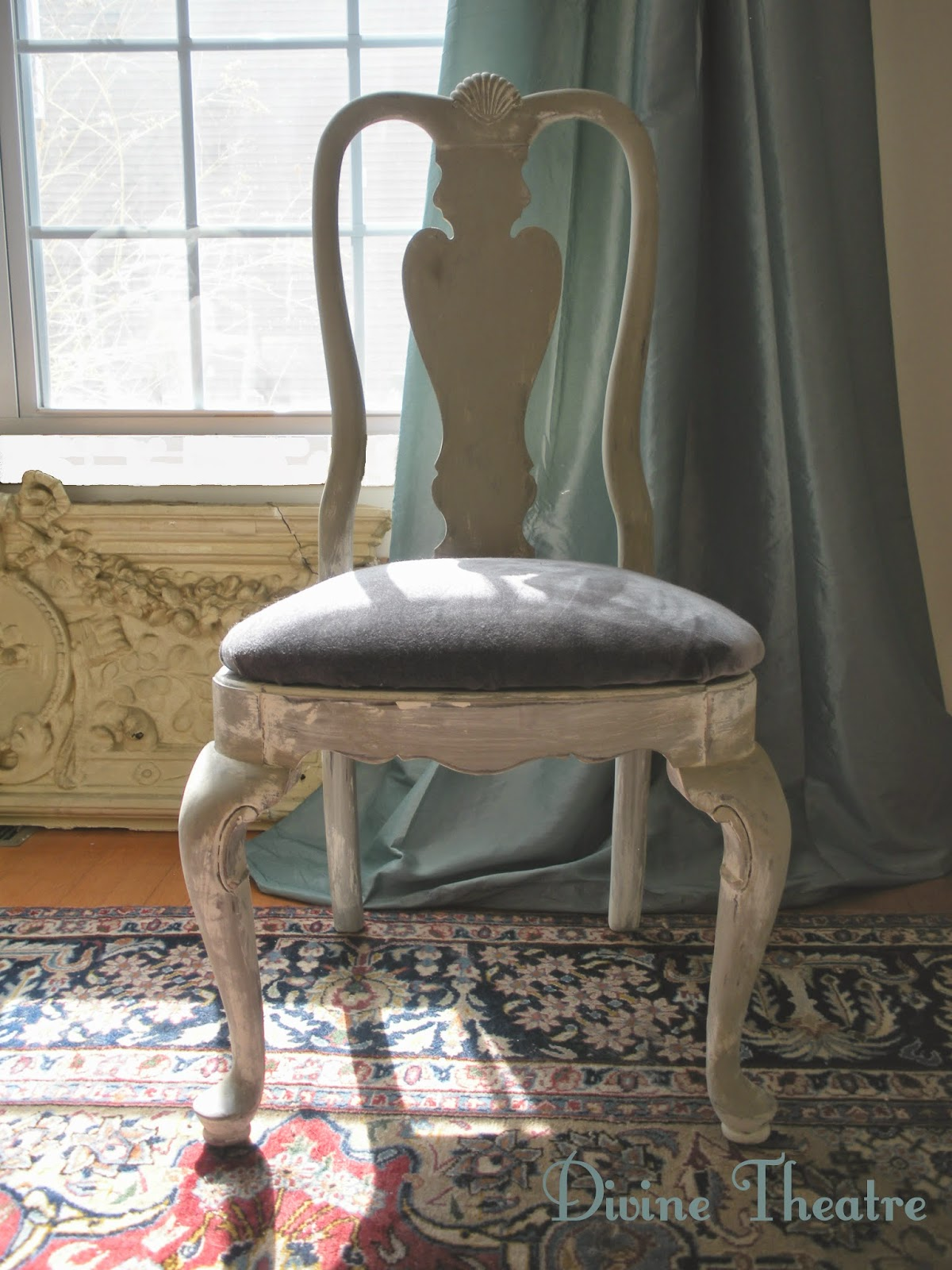 Divine Theatre Gustavian Rococo Dining Chairs Before and After