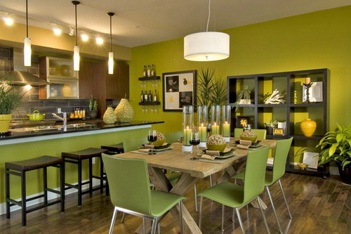 green paint colors for dining room panel uses