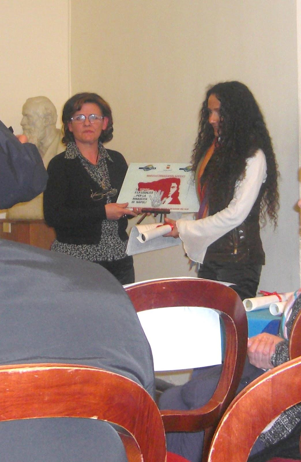 """Donne e Legalità: Agnese Ginocchio al """"Maschio Angioino"""" per Manifestazione """"Marzo DONNA 2012"""""""