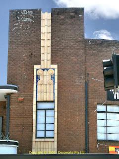 Royal Sheaf Art Deco facade detail