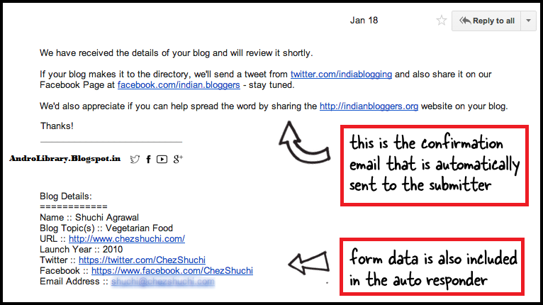 How to Send Confirmation Emails Easily with Google Forms | Andro ...