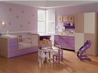 Dormitorios de beb s color lila ideas para decorar - Dibujos habitacion bebe ...