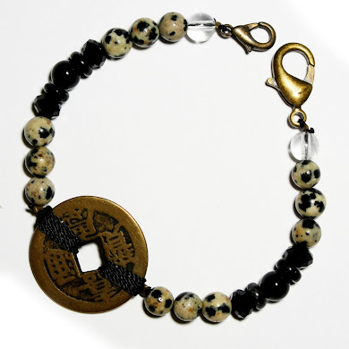 Dalmation Bracelet with Coin