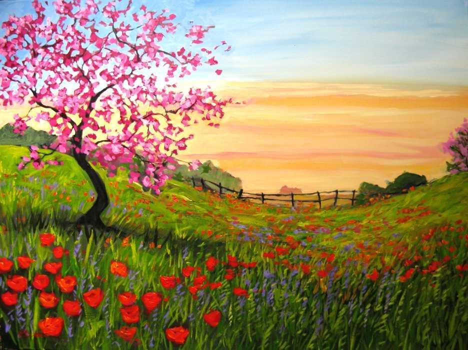 Go Back > Pix For > Easy Landscape Paintings For Beginners