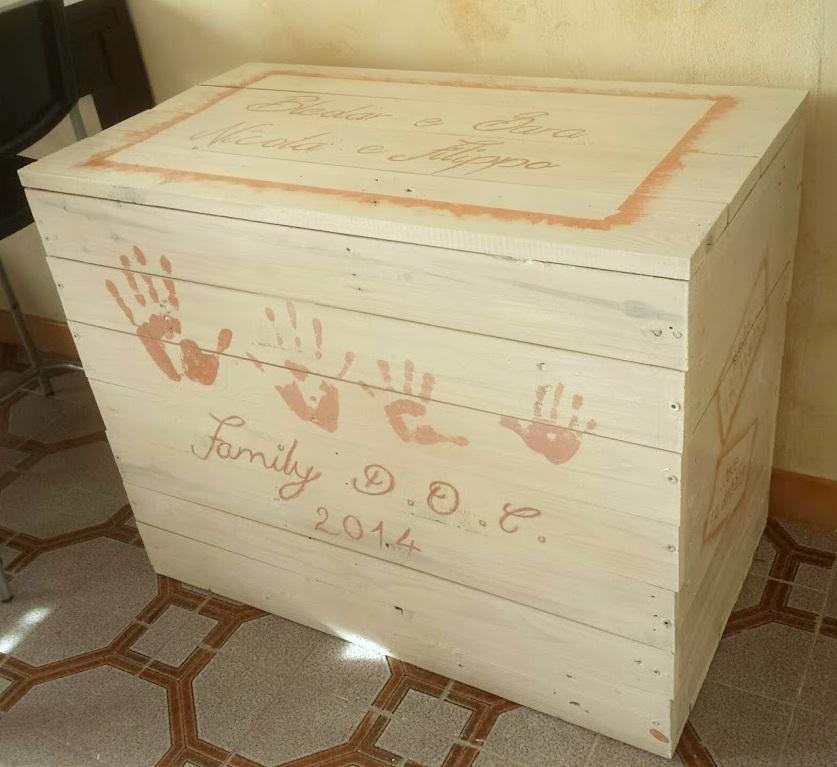 La Girandola Creativa: Baule in legno riciclato...decorato.