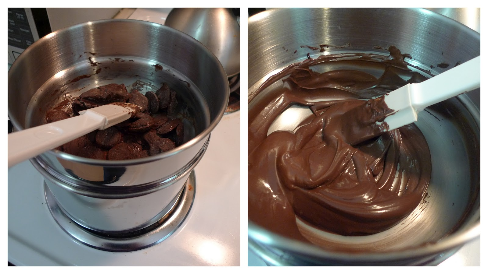 melting chocolate n a double boiler