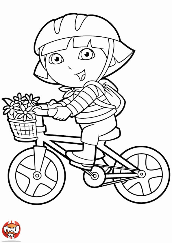 Books Coloring Pages Dora