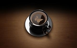 Butterfly Shape on Coffee
