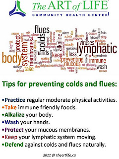 cold and flu prevention tips, the art life health cenre, toronto, canada