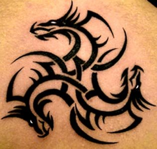 tribal dragon tattoos gallery