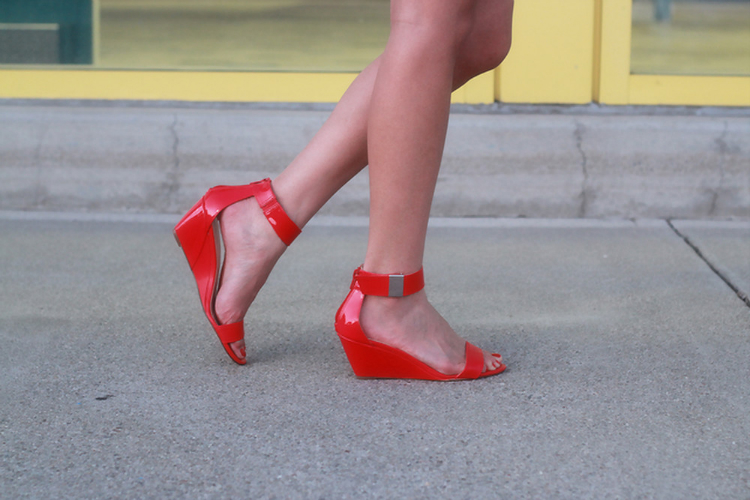 prabal gurung for target red wedge sandals