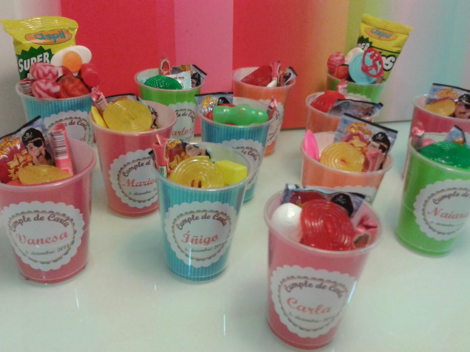 Chuchedetalles pamplona vasos sorpresa de chuches para el - Detalles para cumples infantiles ...