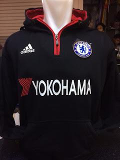 Jaket hoodie Yokohama tyres terbary warna hitam musim 2015/2016