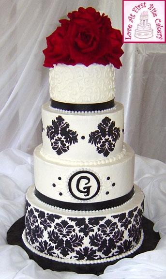 Decora 231 227 O Do Casamento Vermelho Preto E Branco