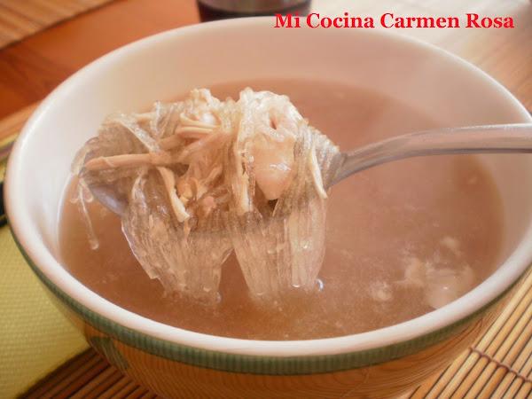 Sopa de fideos for Cocinar fideos de arroz
