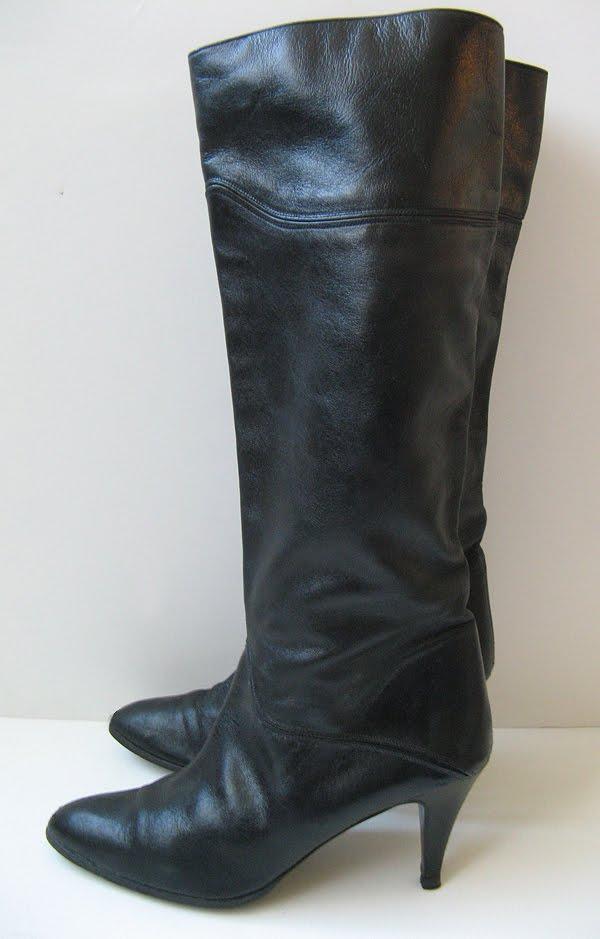 closet coach vtg boots italian leather boots knee