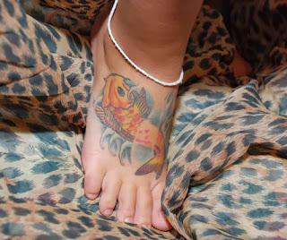 Foot Fish Girl Tattoos Designs