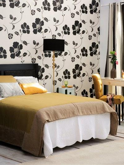 Decorole dormitorio cabeceros empapelados - Casa diez dormitorios ...