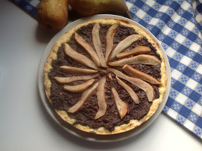 crostata di ricotta cioccolato e pere - ricotta cheese, cocoa and pears pie
