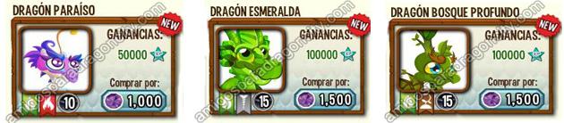 imagen de dragones unicos raros de natura en dragon city