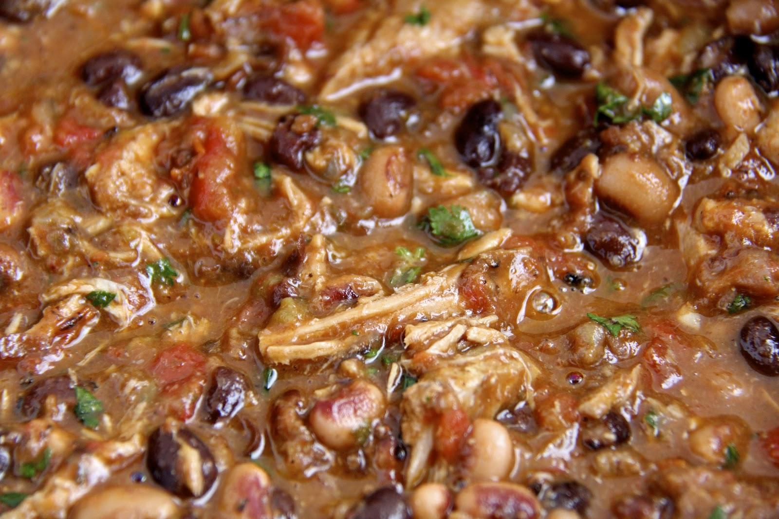 Pork and Chorizo Chili w/ Black Beans and Black-eyed