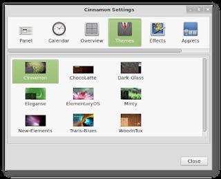 Cinnamon en Linux Mint panel de control