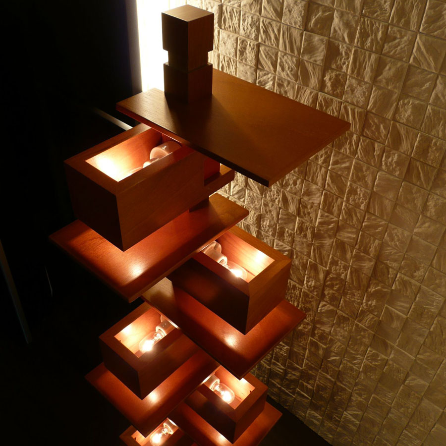 Frank lloyd wright 39 s modernist taliesin floor lamp for Frank lloyd wright flooring