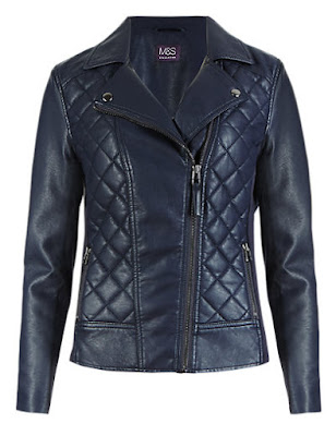 Marks and Spencer Faux Leather Quilted Biker Jacket
