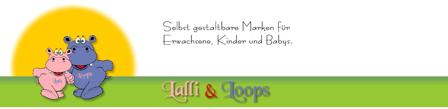 Niedliche Artikel der Marken Lalli und Loops und Fluffy.