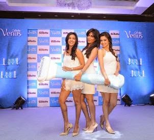 #Priya Anand, #Chitrangada Singh & #Kriti Kharbanda at  the #Gillette Venus event in #Bangalore