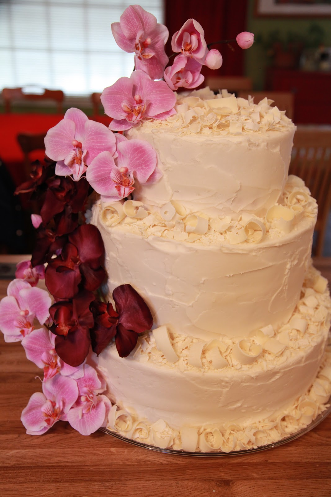 The Cake Box Girls Orchids And White Chocolate 50th Birthday Cake