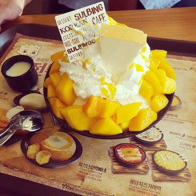 Premium Mango Coco Snowflakes Sherbet Injeolmi Sulbing