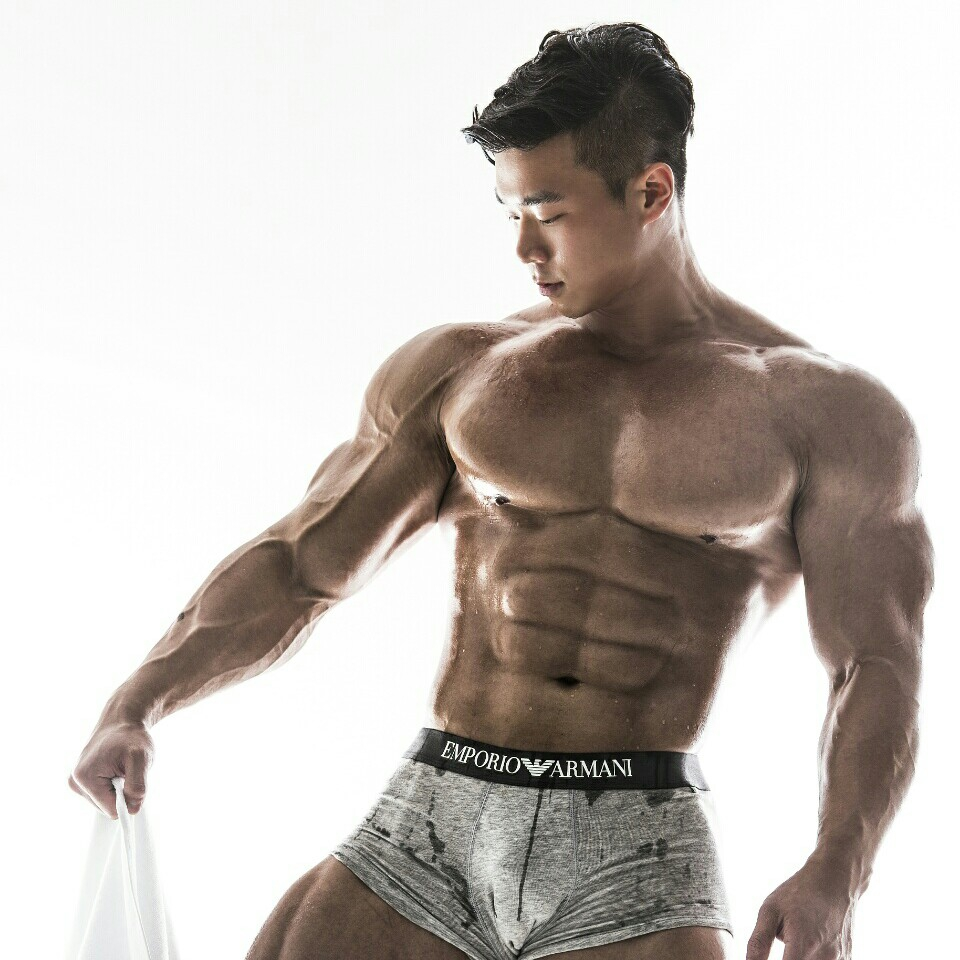 Hot asian male muscle not