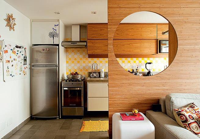 Tipos de cozinha americana +15 fotos e medidas para bancadas!  Decor Alterna # Sala E Cozinha Pequena Juntas